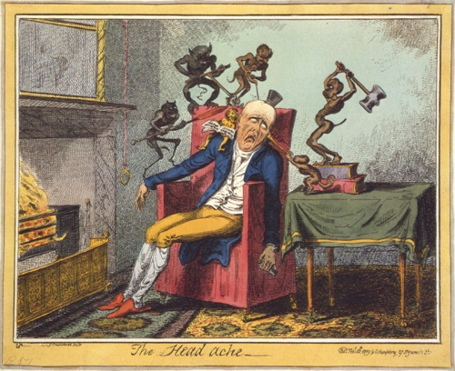 Cruikshank (1819) - The Head ache
